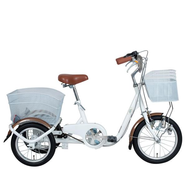 SWING CHARLIE スイングチャーリー ロータイプ 三輪自転車 ホワイト 自転車 ミムゴMIMUGO MG-TRE16SW-WH