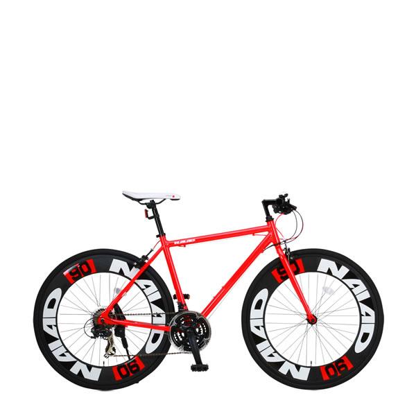自転車 クロスバイク CANOVER NAIAD CAC-023 カノーバー ナイアード 700×28C 21段変速 レッド25585