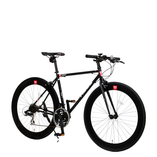 自転車 クロスバイク CANOVER HEBE CAC-024 カノーバー ヘーベー 700×25C 21段変速機 ブラック25586