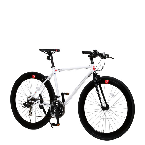自転車 クロスバイク CANOVER HEBE CAC-024 カノーバー ヘーベー 700×25C 21段変速機 ホワイト25587