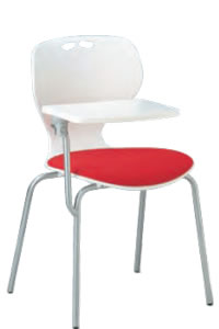 【個人宅配送不可】 アイコ メモ台付きチェア テーブル付き椅子 イス 肘なし 4本脚 MC-404T(FG3)(VG1)