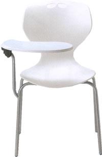 【個人宅配送不可】 アイコ メモ台付きチェア テーブル付き椅子 イス 肘なし 4本脚 ヌードタイプ MC-404T
