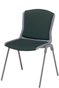 ミーティングチェア 椅子 会議チェア 肘なし 4本脚 塗装脚タイプビニルレザー張りNOTA-T4L