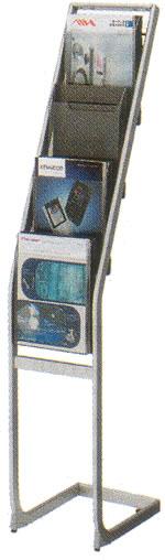 コクヨ パンフレットスタンド パンフレットラック ディスプレイラック 雑誌架 エントランス オフィス家具 A4 サイズ 厚型 トレー タイプ 1列4段 ZR-PS211