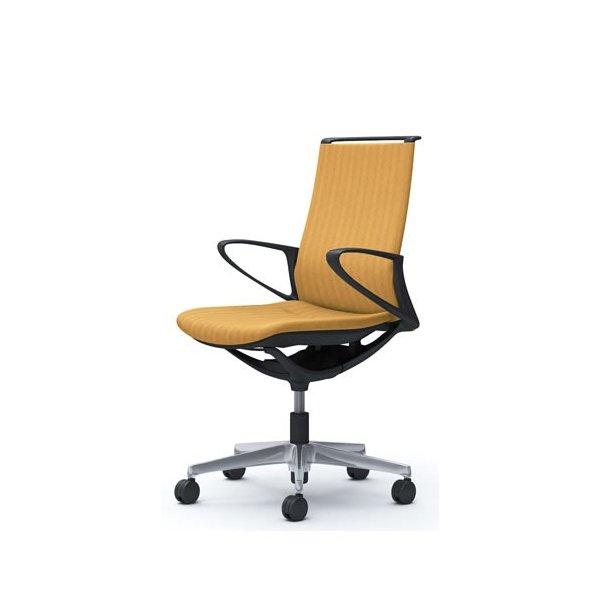 オカムラ モード チェア オフィス ブラックフレーム デザインアーム ヘリンボーン CA25BR-