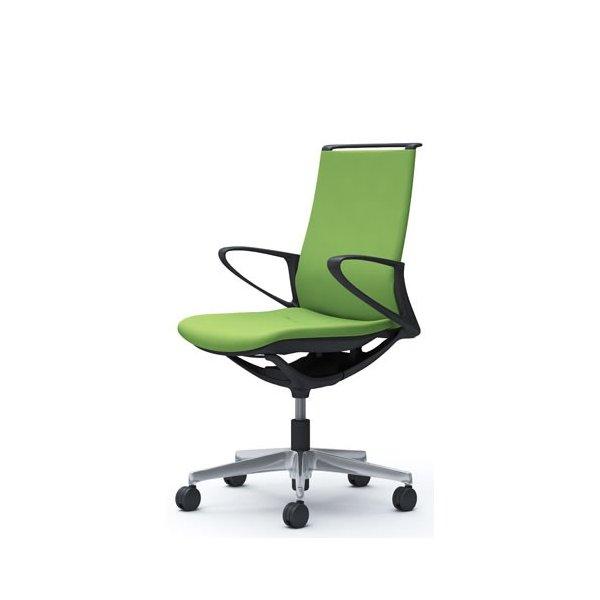 オカムラ モード チェア オフィス ブラックフレーム デザインアーム プレーン CA25BR-FS