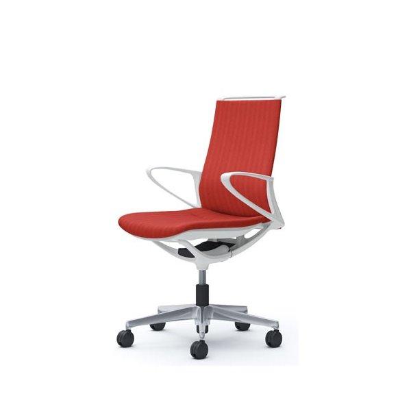 オカムラ モード チェア オフィス ホワイトフレーム デザインアーム ヘリンボーン CA25BW-