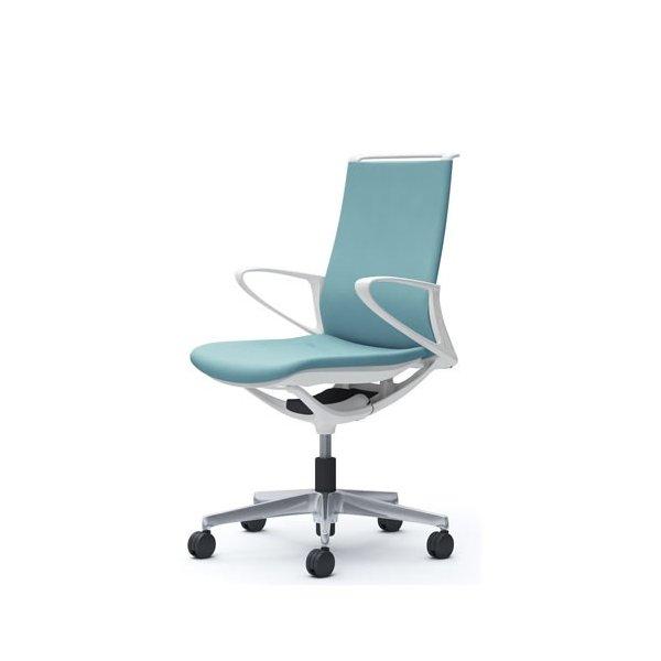 オカムラ モード チェア オフィス ホワイトフレーム デザインアーム プレーン CA25BW-FS