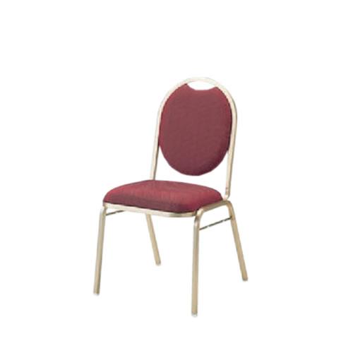 宴会場用結婚式場パーティ卓上椅子スタッキングチェアダーススタッキングゴールド塗装布張りイトーキKBT-220GA