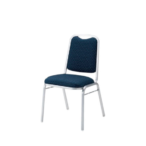 宴会場用結婚式場パーティ卓上椅子スタッキングチェアダーススタッキングシルバー塗装布張りイトーキKBT-240SA