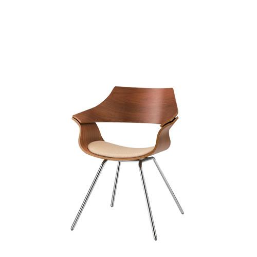 イトーキ 会議椅子 ミーティングチェアー DAチェア キャスターなし 突板タイプ 背パッドなし ウレタンレザー KDA-110DR-Z9