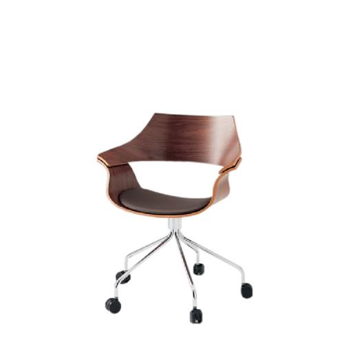 イトーキ 会議椅子 ミーティングチェアー DAチェア キャスター付 突板タイプ 背パッドなし 布張り KDA-130C-Z9