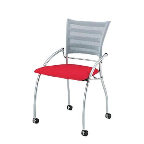イトーキ 会議椅子 ミーティングチェアー プリエ2チェア キャスター付 ネスタブル 座カラー選択 KF-110H-Z5