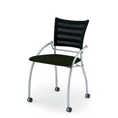 イトーキ 会議椅子 ミーティングチェアー プリエ2チェア キャスター付 ネスタブル 背カラー選択 KF-110H-Z5T1