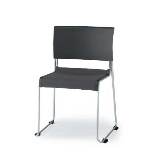 イトーキ 会議椅子 ミーティングチェアー ぺリックチェア 4本脚 スタッキング スチールパイプメッキ仕上脚 KF-220C-Z9