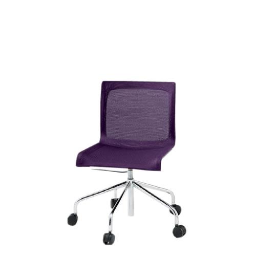 イトーキ 会議椅子 ミーティングチェアー ぺリックチェア 回転脚 キャスター 背メッシュタイプ ガス上下調節 スチールパイプメッキ仕上脚 KF-260C-Z9