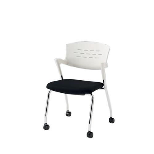 イトーキ 会議椅子 ミーティングチェアー カクタスチェア キャスター シルバーメタリック塗装 KH-215GB-Z5