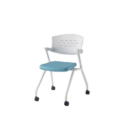 イトーキ 会議椅子 ミーティングチェアー カクタスSCチェア ナイロンキャスター 棚なし メモ台なし ビニールレザー KH-339DL