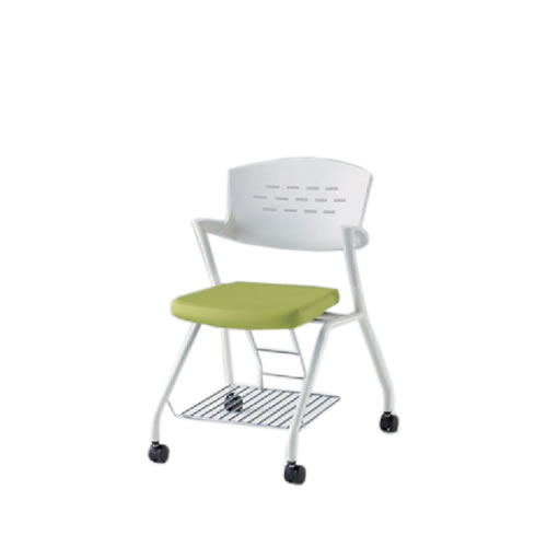 イトーキ 会議椅子 ミーティングチェアー カクタスSCチェア ウレタンキャスター 棚付 メモ台なし 布張り KH-339GBRS