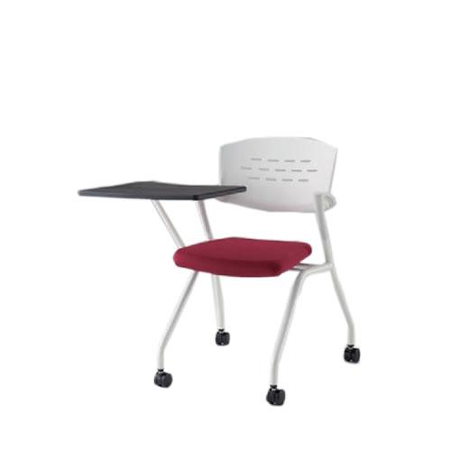 イトーキ 会議椅子 ミーティングチェアー カクタスSCチェア ナイロンキャスター 棚なし メモ台付 ビニールレザー KH-349DL