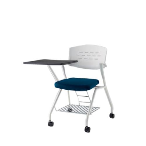 イトーキ 会議椅子 ミーティングチェアー カクタスSCチェア ナイロンキャスター 棚付 メモ台付 ビニールレザー KH-349DLR