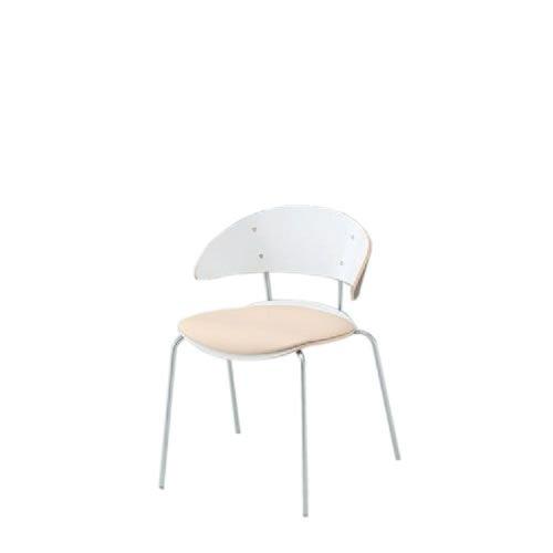 イトーキ 会議椅子 ミーティングチェアー アンビアチェア セパレートタイプ スタッキング チェア クッション付タイプ クロームメッキ脚 ビニールレザーKJA-300DFZ9
