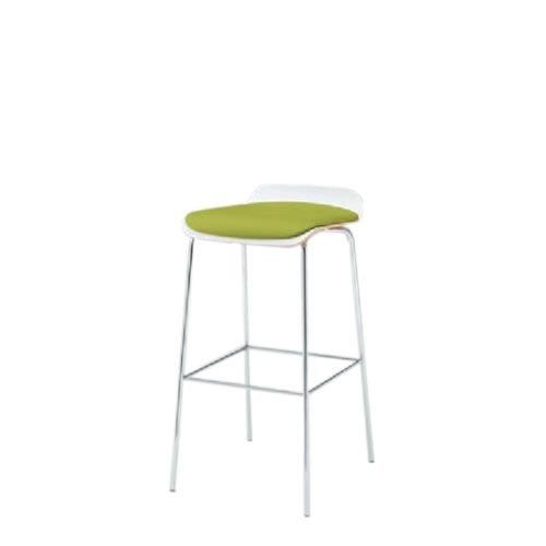 イトーキ 会議椅子 ミーティングチェアー アンビアチェア 4本脚タイプ ハイチェア クッション付タイプ シルバーメタリック脚 ビニールレザー KJA-323DFZ5