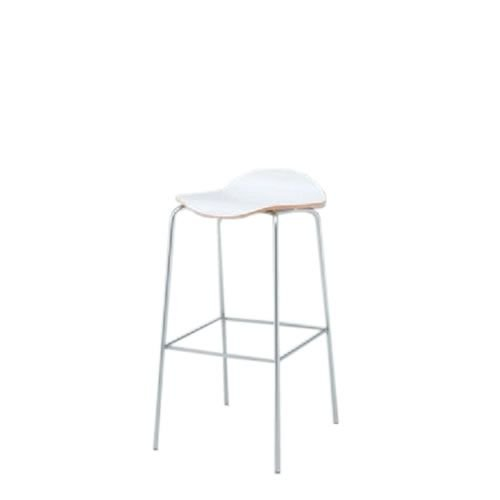イトーキ 会議椅子 ミーティングチェアー アンビアチェア 4本脚タイプ ハイチェア ヌードタイプ シルバーメタリック脚 KJA-333-Z5