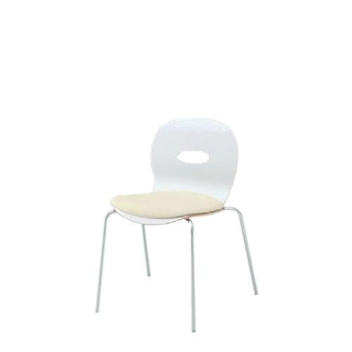 イトーキ 会議椅子 ミーティングチェアー アンビアチェア 4本脚タイプ スタッキング チェア クッション付タイプ シルバーメタリック脚 ビニールレザー KJA-340DFZ5