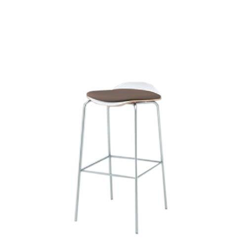 イトーキ 会議椅子 ミーティングチェアー アンビアチェア 4本脚タイプ ハイチェア クッション付タイプ クロームメッキ脚 ビニールレザー KJA-343DFZ9