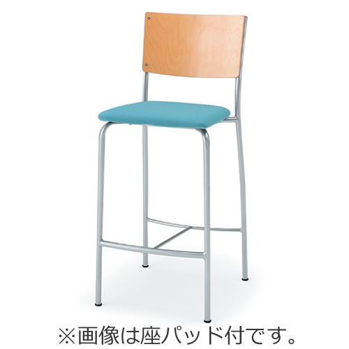 イトーキ 会議椅子 ミーティングチェアー ダイニングチェア F-6タイプ ハイチェア 座パッド付 KJF-613