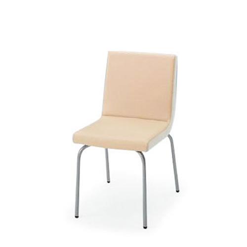 イトーキ 会議椅子 ミーティングチェアー ベジーナ チェア クロームメッキ脚 KJS-610D-Z9