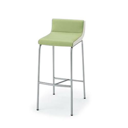 イトーキ 会議椅子 ミーティングチェアー ベジーナ ハイチェア シルバーメタリック塗装脚 KJS-613D-Z5