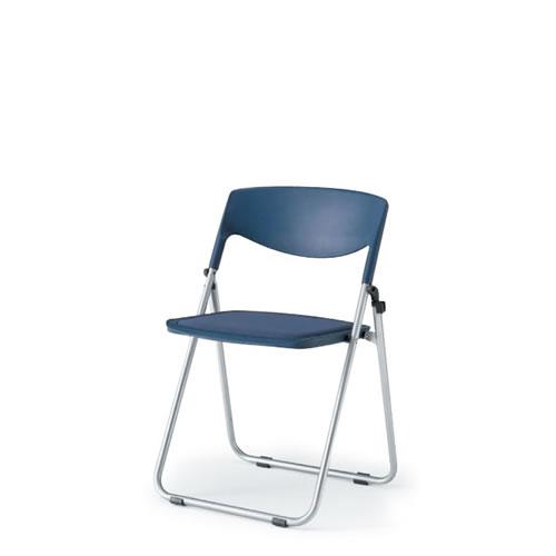 イトーキ 会議椅子 ミーティングチェア 折りたたみ椅子 パイプイス ラムダチェア 横連結 座メッシュタイプ 背インディゴブルー KKA-110-Z5N2
