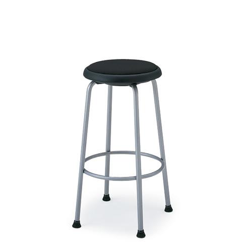 イトーキ 丸イス 丸椅子 スツール スツール 椅子 イス ハイスツールR-5タイプ 背なし 4本脚 リング付 ハイスツール イトーキKKR-520GB