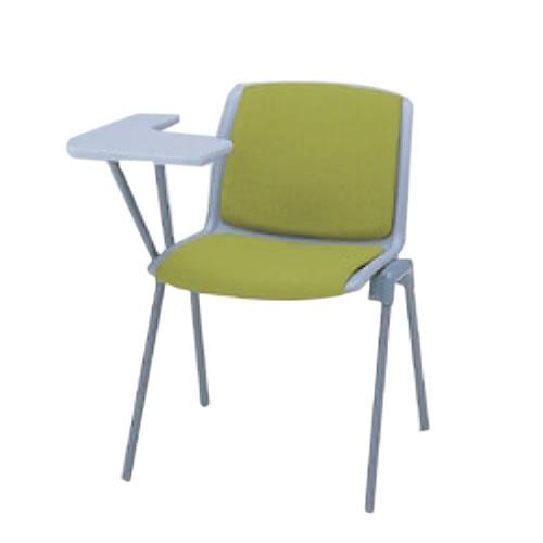 イトーキ 会議椅子 ミーティングチェアー 椅子 スタッキングチェア 肘なし メモ台付 布張り KKR-131NGB