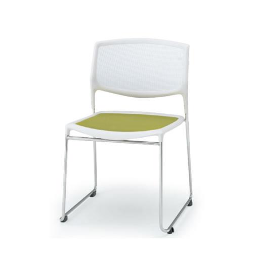 イトーキ 会議椅子 ミーティングチェアー スタッキングチェアA-1 横連結 トーションバーベンディング メッシュサスペンション 座布張り張り KLA-130AX