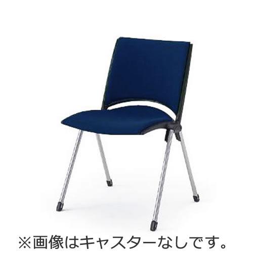 イトーキ 会議椅子 ミーティングチェアー 椅子 レコスチェア 背パッド付 キャスターなし 肘なし イトーキKLA-220GB