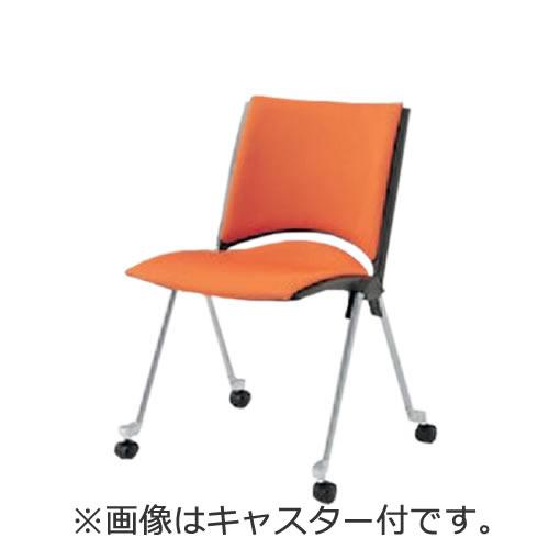イトーキ 会議椅子 ミーティングチェアー 椅子 レコスチェア 背パッド付 キャスター付 肘なし KLA-240GB