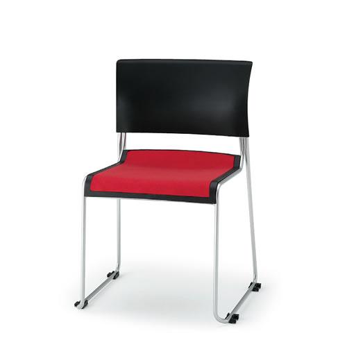 イトーキ 会議椅子 ミーティングチェアー ルベックチェア スタッキング 横連結 背ヌードタイプ ハイテンションスチールパイプ脚 布張り イトーキKLC-210GBZ5