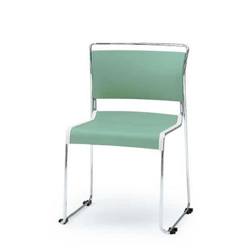イトーキ 会議椅子 ミーティングチェアー ルベックチェア スタッキング 横連結 ルベックC背クッションタイプ ハイテンションスチールパイプ脚 ウレタンレザー イトーキKLC-240DRZ5