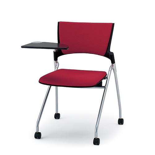 イトーキ 会議椅子 ミーティングチェアー マノスチェア キャスター ネスタブル 背パッド付 肘なし 棚なし メモ台付 KLC-322GB