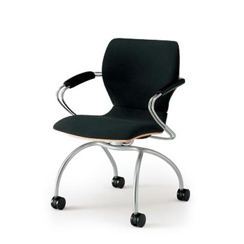 イトーキ 会議椅子 ミーティングチェアー シンタシリーズ 4本脚タイプ キャスター付き KLC-415