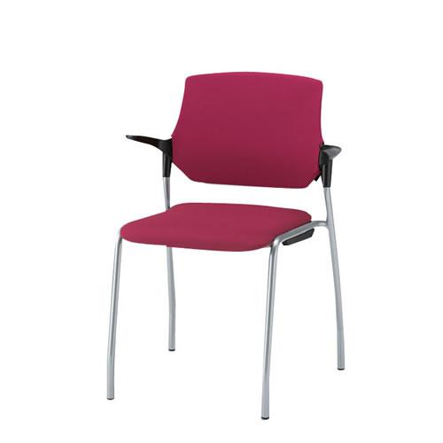 イトーキ 会議椅子 ミーティングチェアー ステンザチェア 4本脚 クロスバック 再生布地(GB) KLC-545