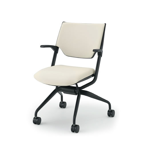 イトーキ 会議椅子 ミーティングチェアー レクシブチェア 肘付 クロスバック ネスタブル KLC-825