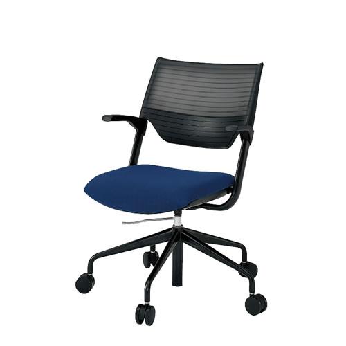 イトーキ 会議椅子 ミーティングチェアー レクシブチェア 肘付 エラストマーバック ガス上下調節 KLC-855