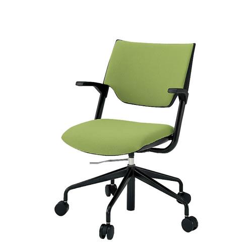 イトーキ 会議椅子 ミーティングチェアー レクシブチェア 肘付 クロスバック ガス上下調節 KLC-865