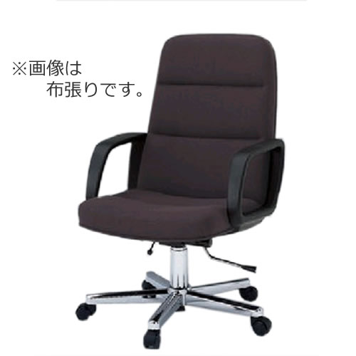 輝い イトーキ K-8タイプ エグゼクティブチェア 社長椅子 役員椅子 ミディアムサイズ ハイバック 肘付 布 ビニールレザー ガス上下調節 KWK-885, ニイカップチョウ fb674a78