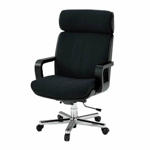 イトーキ R-1タイプ エグゼクティブチェア 社長椅子 役員椅子 ハイバック 肘付 背裏ビニールレザー張り 布 KWR-107GR