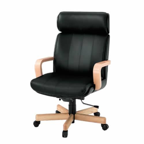 イトーキ R-1タイプ エグゼクティブチェア 社長椅子 役員椅子 ハイバック 肘付 背裏ビニールレザー張り 皮革 KWR-107LA
